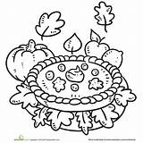 Coloring Pages Fall Printable Pumpkin Pie Thanksgiving Parents Autumn Print Harvest Food Contest Julian Apple Printables Festival Fun sketch template