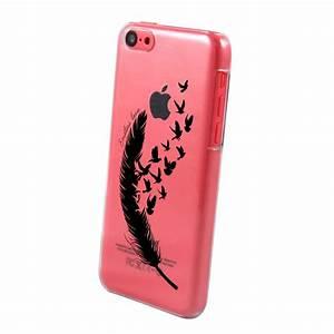 Coque Iphone Transparente : coque transparente plume pour apple iphone 5c coquediscount ~ Teatrodelosmanantiales.com Idées de Décoration