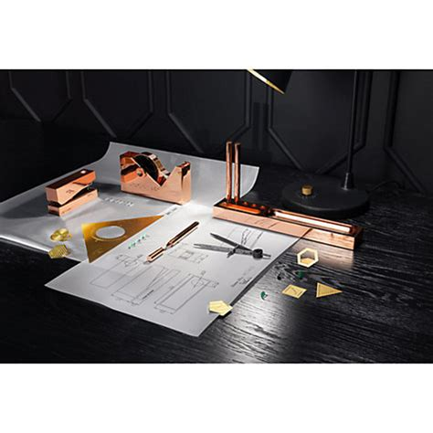 tom dixon cube desk tidy buy tom dixon cube copper desk tidy tray john lewis