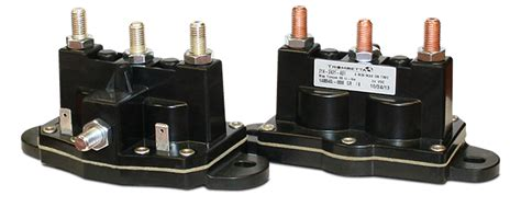 trombetta s reversing polarity dc contactor which integrates two dc contactors into a single