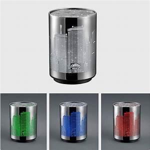Led Tischleuchte Farbwechsel : led tischleuchte nachtlicht mit skyline rgb farbwechsel batteriebetrieben 8cm wohnlicht ~ Watch28wear.com Haus und Dekorationen