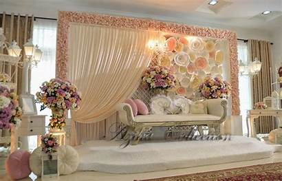 Backdrop Pelamin Stage Decorations Backdrops Koleksi Simple