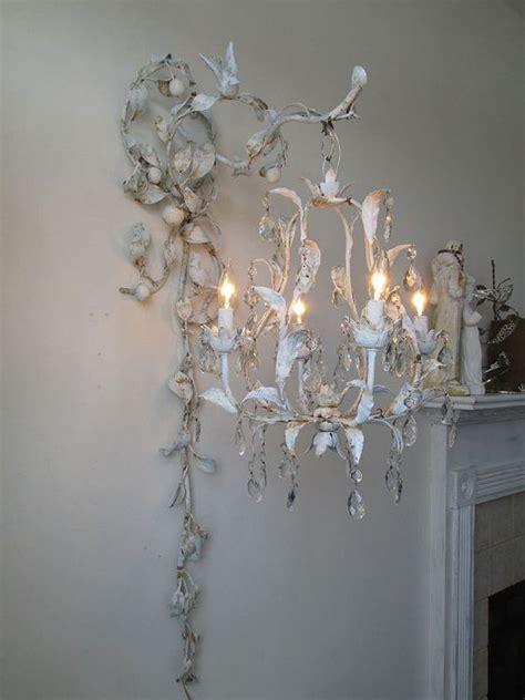 chandelier lighting swag w ornate wall hook blue