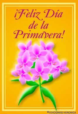 Enviar tarjeta postal Feliz día de la primavera con flores
