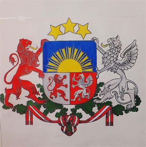 Latvijas ģerbonis-Zīmējums - Spoki