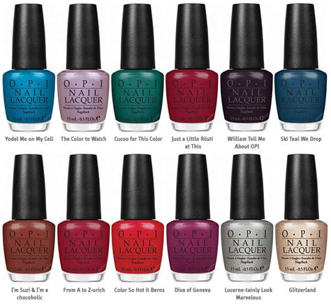 opi color names nailephant opi swiss collection