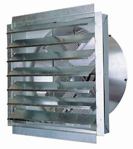 Industrial wall exhaust fan with shutter maxx air if series for Commercial exhaust fans for bathrooms