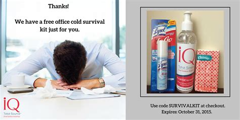 office cold survival kit iq total source