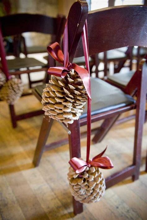 pine cone place card holders for rustic 25 budget rustic winter pinecone wedding ideas