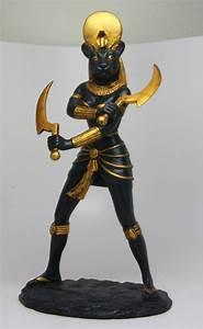 Black Gold Sekhmet Statue Sachmis Ancient Egyptian Goddess