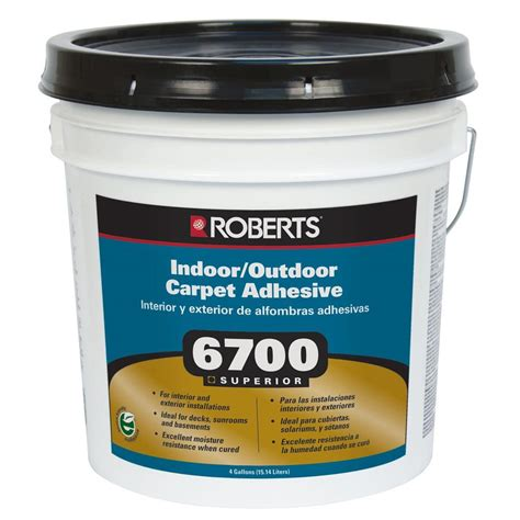 home depot flooring adhesive roberts 6700 4 gal indoor outdoor carpet and artificial turf adhesive 6700 4 the home depot