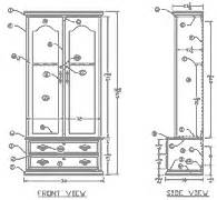 corner gun cabinet blueprints