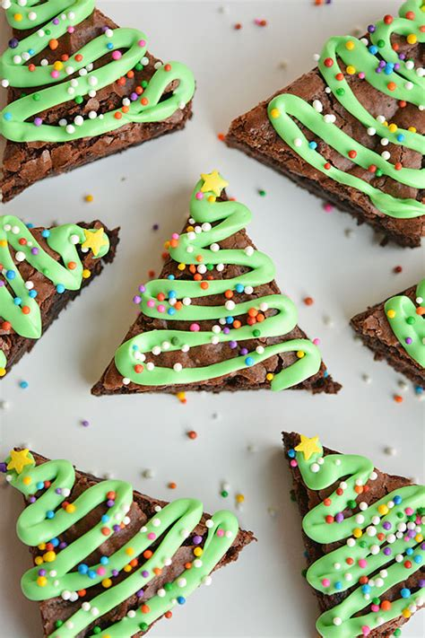easy christmas tree brownies