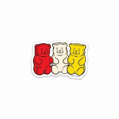 Gummy Sticker Bears Stickers Tag Blank Brand
