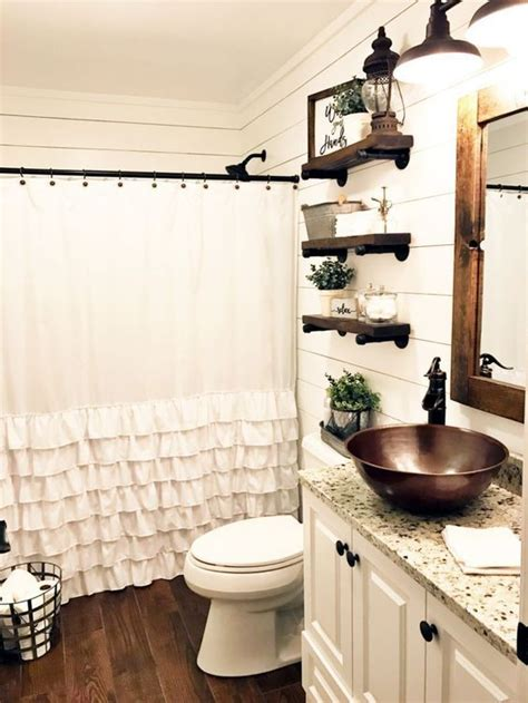 Home Decor Ideas For Small Bathrooms by 55 Farmhouse Bathroom Ideas For Small Space Rustic And
