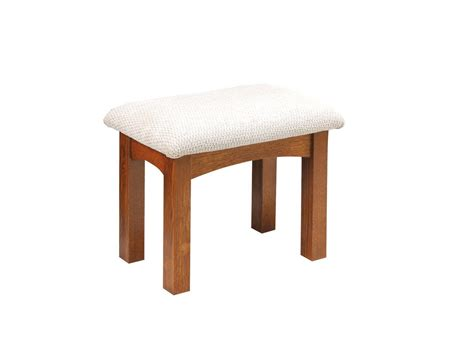 large upholstered mission vanity stool  dutchcrafters