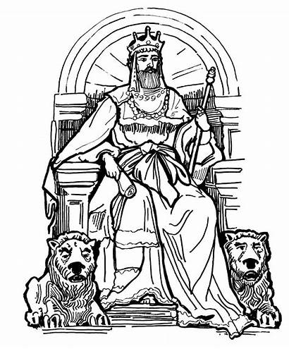 King Throne Coloring David Pages Drawing Queen