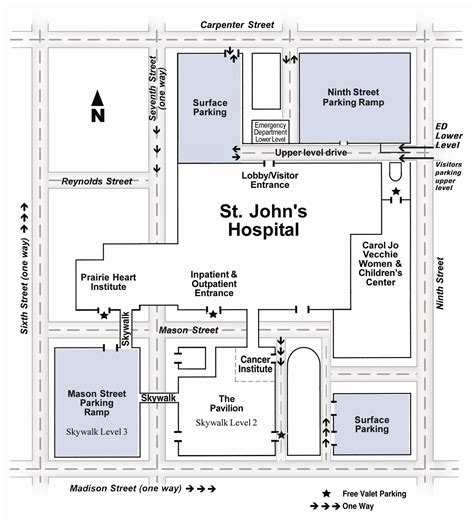 st johns hospital visitor map springfield illinois usa