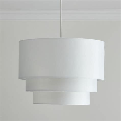 wilko 3 tier pendant shade white at wilko