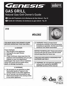 Weber Genesis 54382 Owner S Manual
