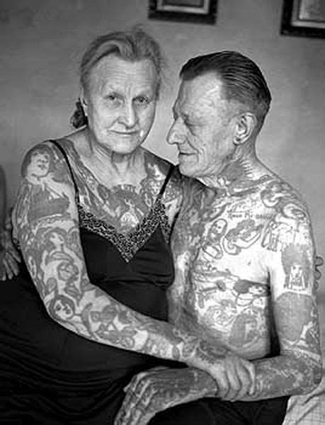 Tats on a older couple in love #idealmaturelove #idealintroductions | Tattoo memes, Old tattoos