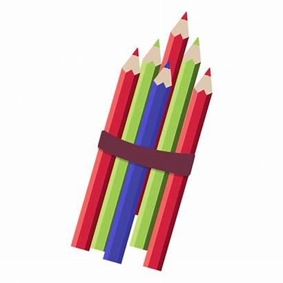 Stack Pencil Illustration Transparent Svg Vector Colors