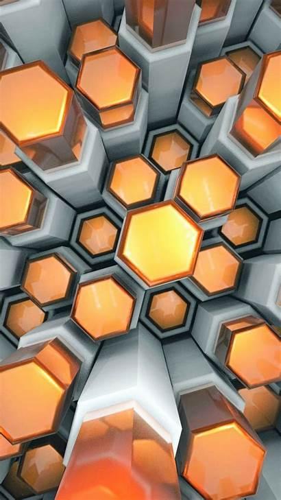 Wallpapers Cool Orange Backgrounds Hexagons Desktop 1080p