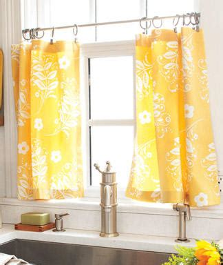 Yellow Cafe Curtains For Kitchen 2016