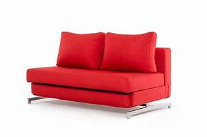 contemporary red fabric sofa bed with chrome legs With red modern sofa bed