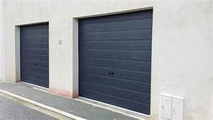Porte De Garage Gris Anthracite : pose de portes de garage sectionnelle 7016 sur mesure par solabaie rochefort ~ Melissatoandfro.com Idées de Décoration