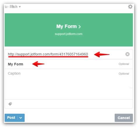 adding form to tumblr