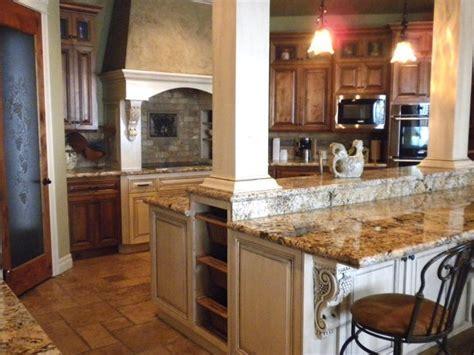 Kitchen with island columns   Craftsman   Kitchen