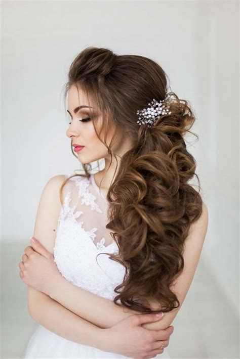 wedding hairstyles long hair to the side top 30 long wedding hairstyles for bride from art4studio