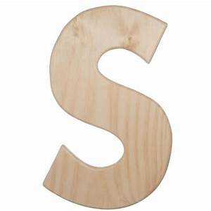 12quot natural wood letter s u0993 s craftoutletcom With natural wood letters