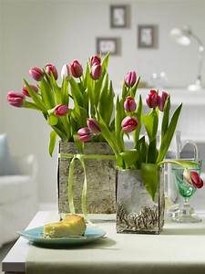 Tulpen Im Glas Ohne Erde : tolle dekoideen mit tulpen ~ Frokenaadalensverden.com Haus und Dekorationen