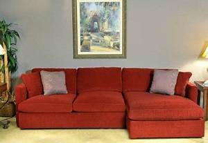 red chrisma brick fabric 2pc modern elegant sectional sofa With brick red sectional sofa