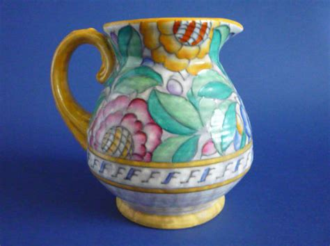 lovely charlotte rhead crown ducal persian rose flower jug