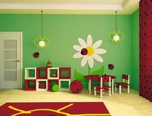 Couleur Peinture Chambre Enfant Rouge Jaune Vert Bondex