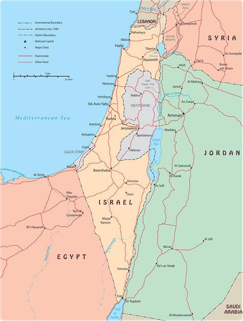 map  jerusalem  surrounding areas  travel