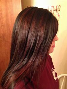 The 25 Best Brown Hair Red Highlights Ideas On Pinterest