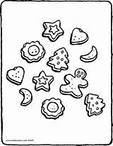 Biscuits Drawing Christmas Colouring Kiddicolour Getdrawings Receiver Mail sketch template