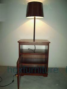 Floor lamp with table harper blvd teige floor lamp steel for Leick swing arm floor lamp with wood end table