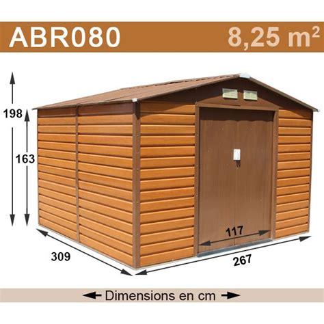 abri de jardin m 233 tal 8 25 m2 coloris aspect bois kit d