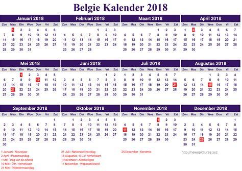Kalender 2017 Met Feestdagen In Belgie