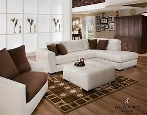 naples white leatherette modern sectional sofa w optional With sectional sofas naples fl