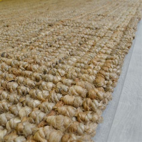 tapis naturel boh 232 me 100 jute naturel 120 x 170 cm