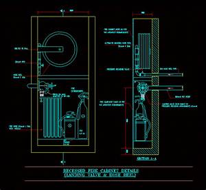 Recessed Fire Cabinet DWG Detail for AutoCAD • Designs CAD