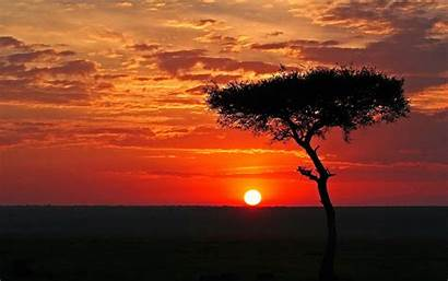 African Sunset Background Africa Landscape Backgrounds Wallpapers