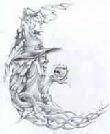 Mago Markfellows Wizards Magos Bruxo Tatoeages Brandmalerei Peito Tovenaar Tekenen Tatoeage sketch template