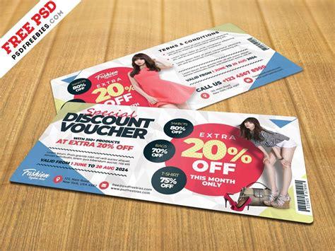 discount voucher template psd  psd